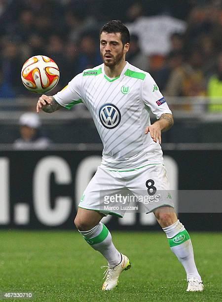 Vieirinha of VfL Wolfsburg in action during the UEFA Europa League Round of 16 match between FC Internazionale Milano and VfL Wolfsburg at Stadio...