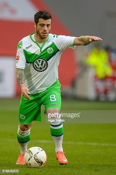 Vieirinha of Wolfsburg controls the ball during the Bundesliga match between VfL Wolfsburg and Hertha BSC Berlin at Volkswagen Arena on March 19 2016...