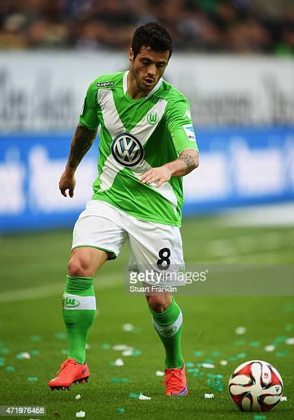 Vieirinha of Wolfsburg in action during the Bundesliga match between VfL Wolfsburg and Hannover 96 at Volkswagen Arena on May 2 2015 in Wolfsburg...