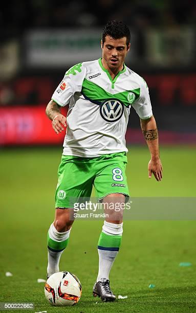 Vieirinha of Wolfsburg in action during the Bundesliga match between VfL Wolfsburg and Borussia Dortmund at Volkswagen Arena on December 5 2015 in...