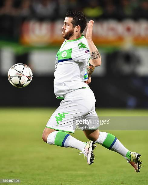 Vieirinha of Wolfsburg in action during the UEFA Champions League Quarter Final First Leg match between VfL Wolfsburg and Real Madrid at Volkswagen...