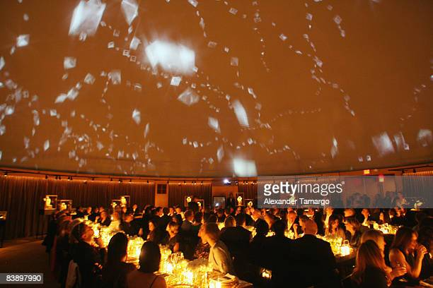 Vieiw of the guests watching David Lynch's film �Diamonds Gold and Dreams' at a private dinner in honor of Anri Sala at the Cartier Dome Miami Beach...
