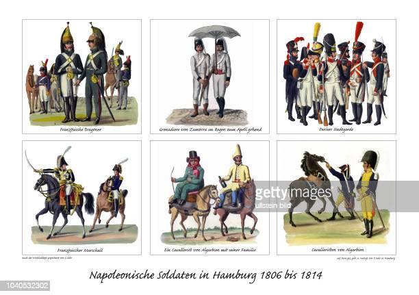 Viele der in Hamburg stationierten französischen Soldaten kamen aus von Napeleon besetzten Ländern, vor allem aus Spanien und Portugal .