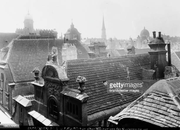 View over the roofs of old houses in Naglergasse About 1910 Photograph by Bruno Reiffenstein Wien 1 Blick über die Dächer alter Häuser in der...