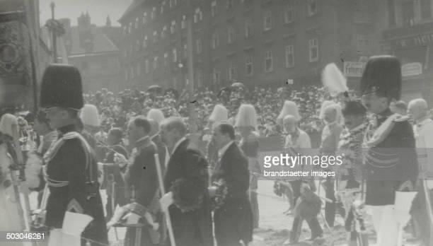 Vienna 1st district Emperor Franz Joseph I of Austria at the Corpus Christi procession on Stephansplatz About 1910 Photograph