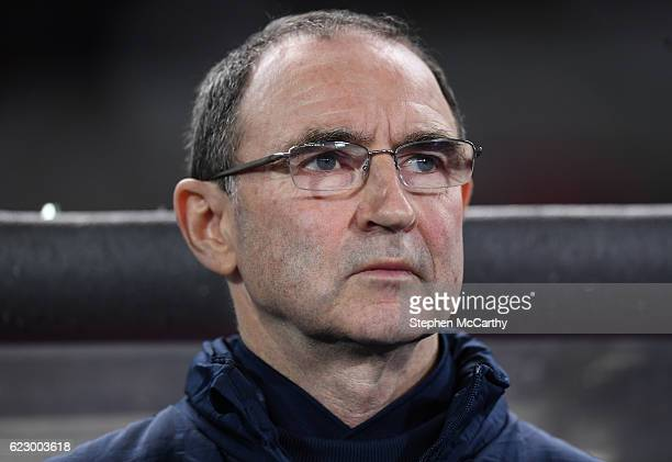 Vienna Austria 12 November 2016 Republic of Ireland manager Martin O'Neill during the FIFA World Cup Group D Qualifier match between Austria and...
