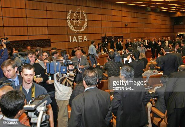 General view shows the International Atomic Energy Agency headquarters in Vienna 06 March 2006 before a IAEA board of governors meeting to clear the...