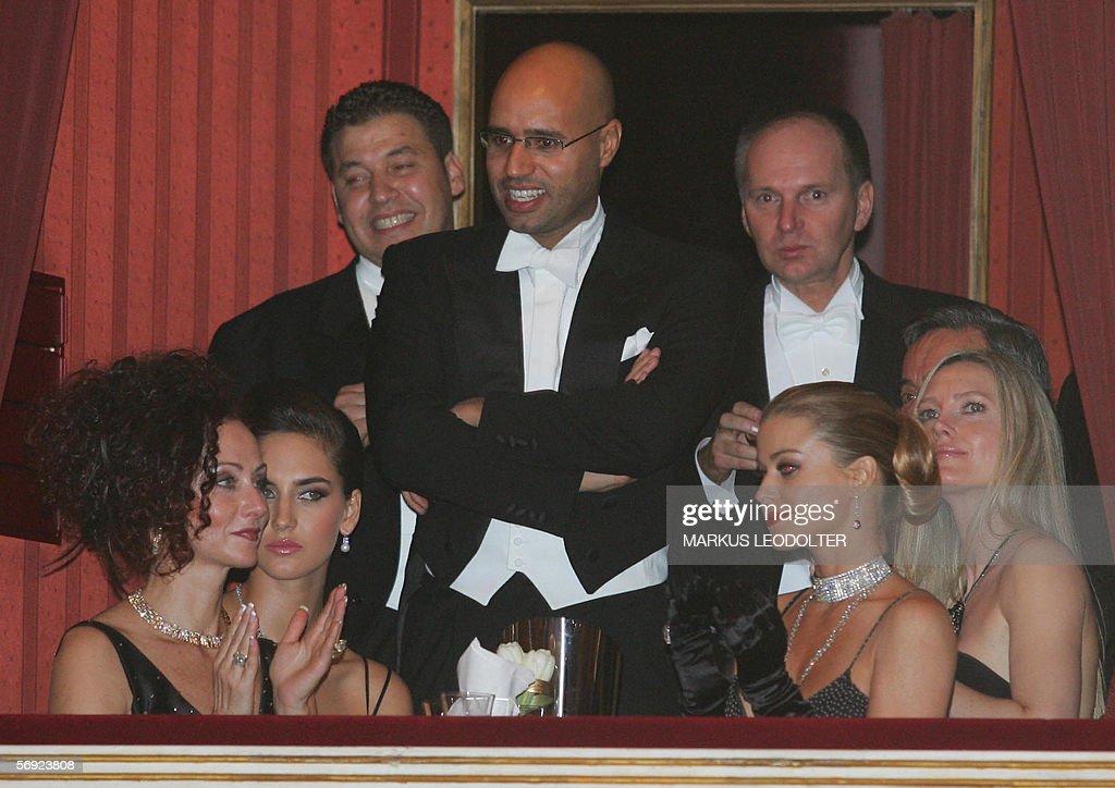 Christine Lugner (L), Seif Al-Islam Khad : News Photo