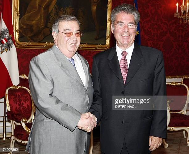 Former Russian Prime Minister Yevgeny Primakov is pictured during a meeting with Austrian President Heinz Fischer 21 May 2007 in Vienna. Primakov...