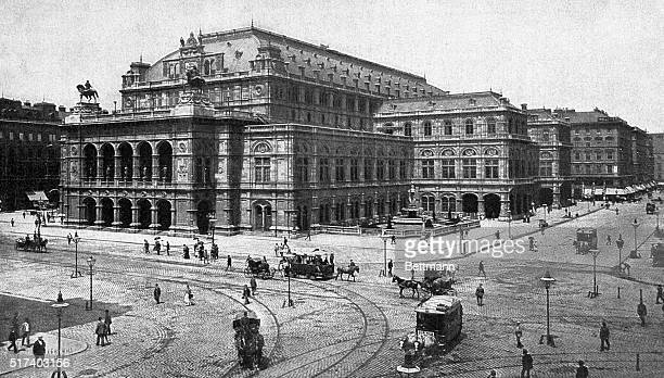 Vienna, Austria: Illustration of the Royal Opera House in Vienna. From a photograph. BPA2# 3484