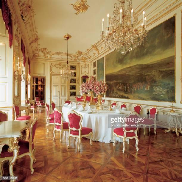 Vienna Castle Schoenbrunn built after original plans by Johann Bernhard Fischer von Erlach redesigned by Nikolaus Pacassi between 1744 to 1749 The...