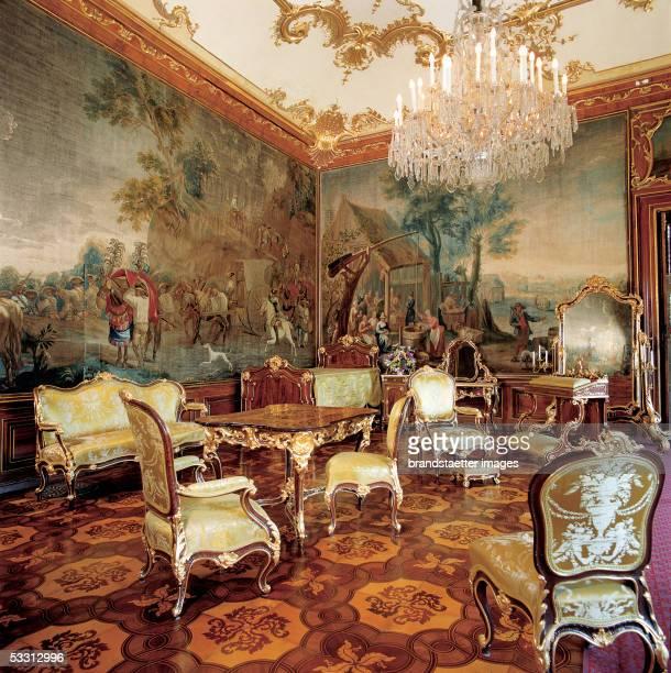 Vienna Castle Schoenbrunn built after original plans by Johann Bernhard Fischer von Erlach redesigned by Nikolaus Pacassi between 1744 to 1749...