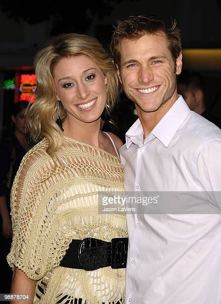 """Vienna Girardi and Jake Pavelka attend the premiere of """"The Back-Up Plan"""" at Regency Village Theatre on April 21, 2010 in Westwood, California."""