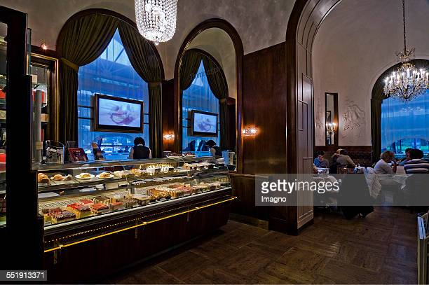 Vienna Inner view of the Cafe Landtmann with cake counter Photograph by Urs Schweitzer 2009