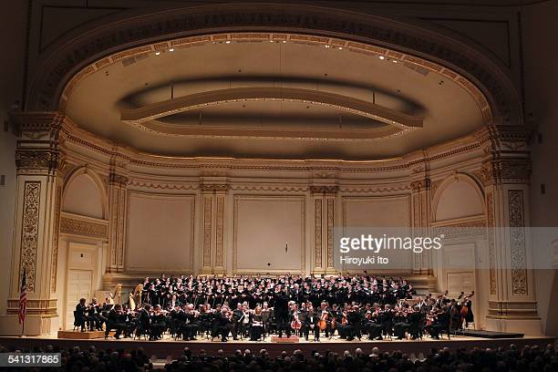 """Vienna Philharmonic Orchestra with Westminster Symphonic Choir performing Brahms's """"A German Requiem"""" at Carnegie Hall on Sunday afternoon, March 1,..."""