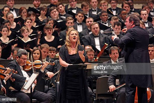 Vienna Philharmonic Orchestra with Westminster Symphonic Choir performing Brahms's A German Requiem at Carnegie Hall on Sunday afternoon March 1...