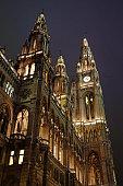 Vienna Rathaus at night