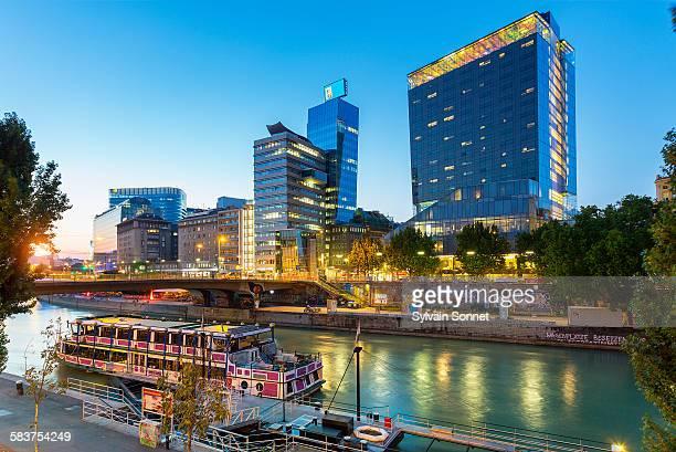 Vienna riverbank at Night