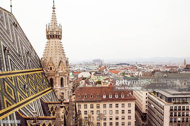 Vienna rooftops from Stephansdom