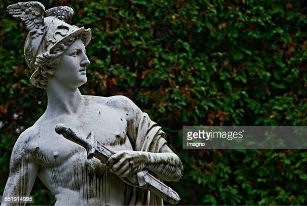 Vienna Sculpture of the messenger of the gods Hermes in the park at the Hermes Villa in Lainzer Tiergarten Photograph by Urs Schweitzer 2009