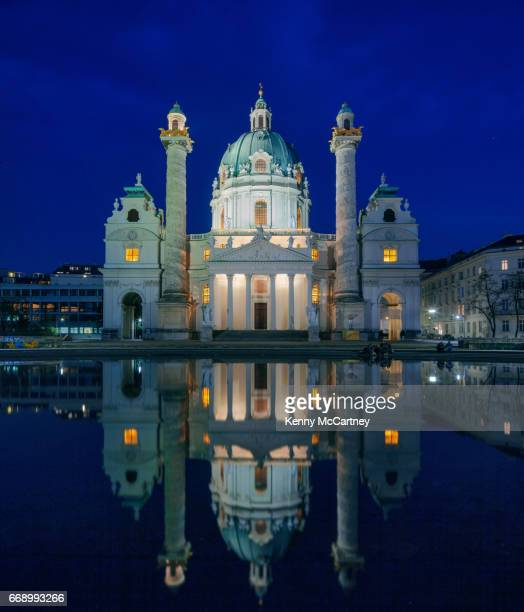 vienna - st. charles cathedral - vienna state opera stock pictures, royalty-free photos & images