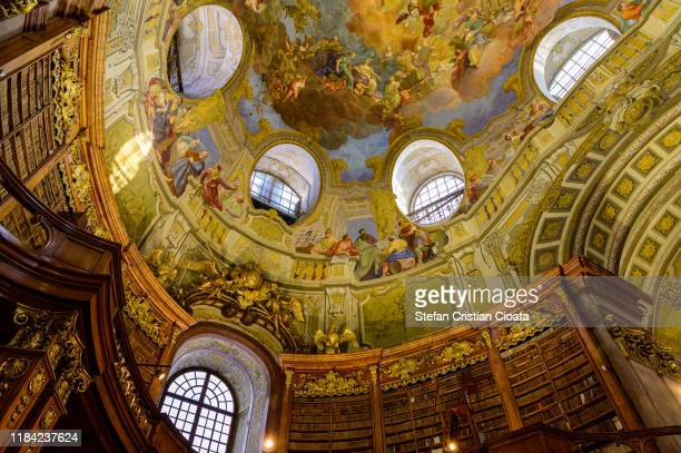 vienna state library interior, austria - vienna austria stock pictures, royalty-free photos & images