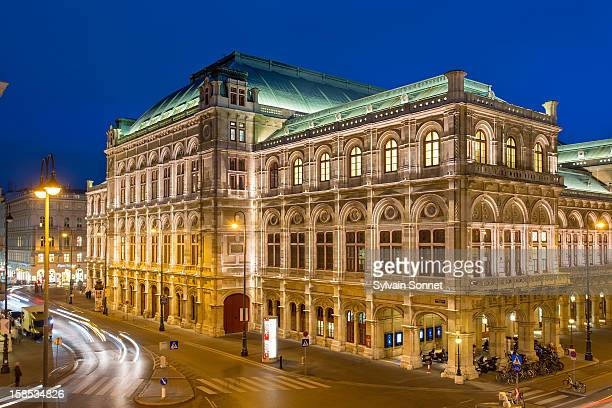 Vienna, State Opera at night