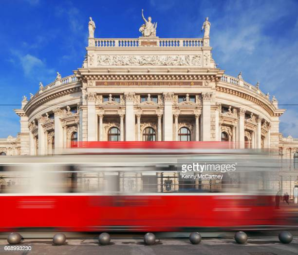 vienna - theatre and tram - vienna state opera stock pictures, royalty-free photos & images