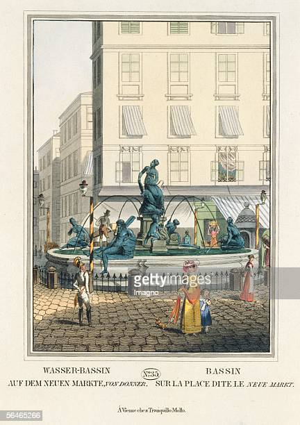 Vienna Water basin on the new market by Donner[DonnerBrunnenby Georg Raphael Donner] Coloured engravings Sheet No 35 from the catalogue Viennas...