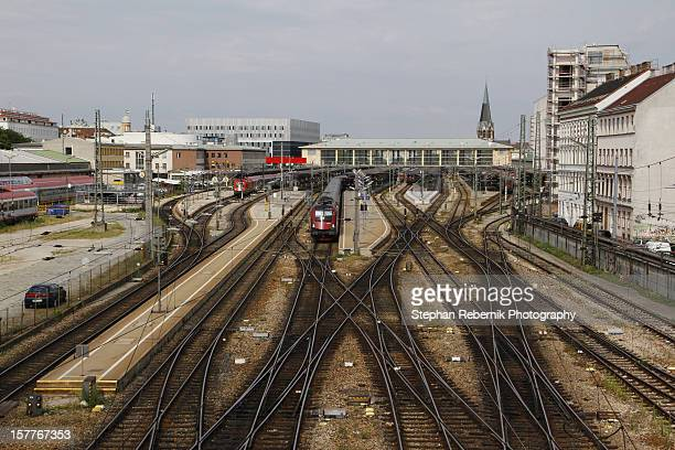vienna west railway station - stephan rebernik ストックフォトと画像