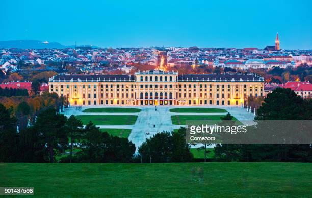 Vienna's Schonbrunn Palace at Sunset, Austria