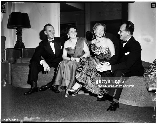 Viennese Ball Rodeo Room of Beverly Hills Hotel 15 March 1952 Mr and Mrs James B RogersMr and Mrs Jack GuiaMr and Mrs Hal HowardMr and Mrs William...