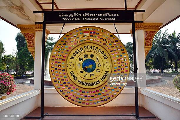 Vientiane World peace gong Laos