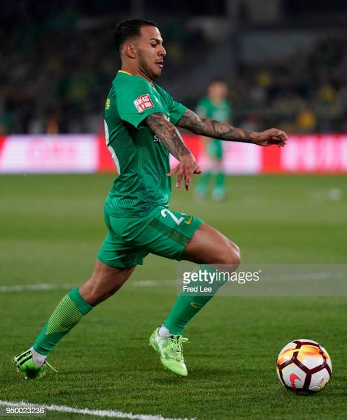 Viera Ramos of Beijing Guoan in action during 2018 China Super League match between Beijing Guoan and Guangzhou Evergrande Taobao at Beijing Workers...