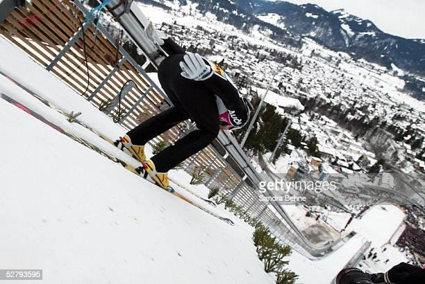 Vierschanzentournee 03/04 Oberstdorf Training Sven HANNAWALD/GER