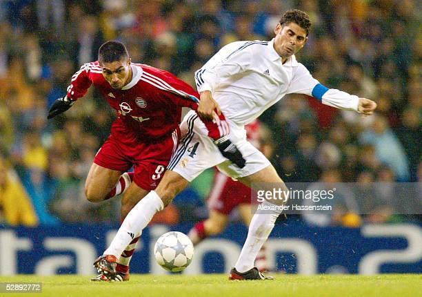 LEAGUE 01/02 Viertelfinale Madrid REAL MADRID FC BAYERN MUENCHEN 20 Giovane ELBER/BAYERN Fernando HIERRO/MADRID