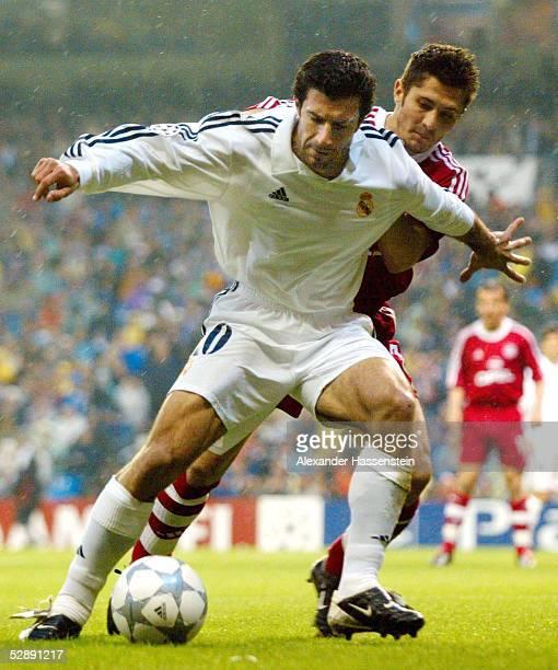 LEAGUE 01/02 Viertelfinale Madrid REAL MADRID FC BAYERN MUENCHEN 20 Luis FIGO/MADRID Bixente LIZARAZU/BAYERN