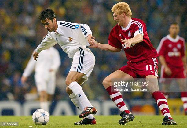 LEAGUE 01/02 Viertelfinale Madrid REAL MADRID FC BAYERN MUENCHEN 20 RAUL GONZALES/MADRID Stefan EFFENBERG/BAYERN