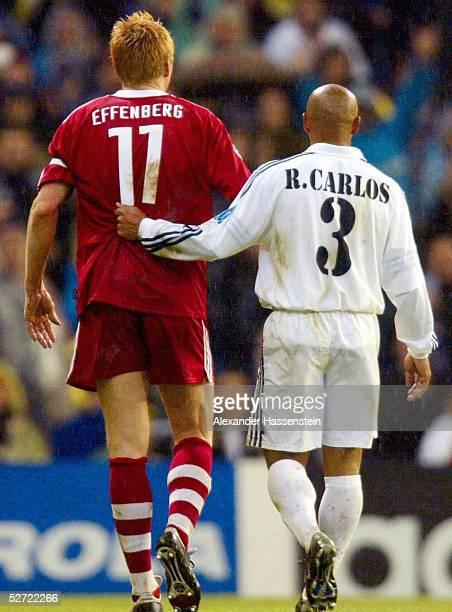 LEAGUE 01/02 Viertelfinale Madrid REAL MADRID FC BAYERN MUENCHEN 20 Stefan EFFENBERG/BAYERN Roberto CARLOS/MADRID