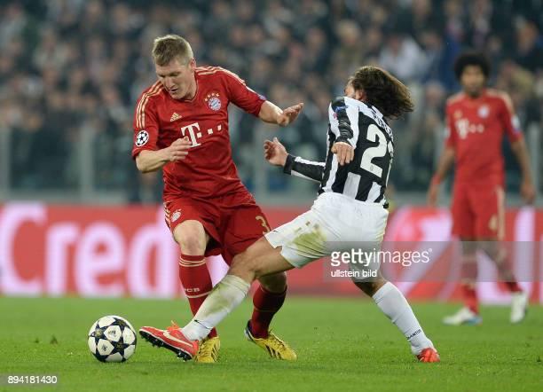 ViertelfinalRückspiel Saison 2012/2013 FUSSBALL CHAMPIONS Juventus Turin FC Bayern Muenchen Bastian Schweinsteiger gegen Andrea Pirlo