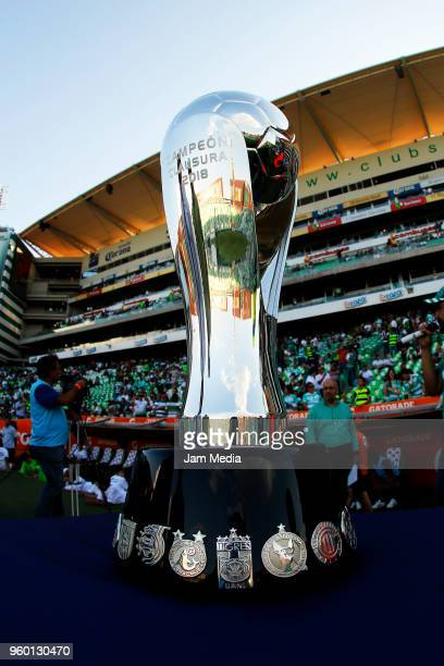 A vies of the Torneo Clausura 2018 trophy prior the Final first leg match between Santos Laguna and Toluca as part of the Torneo Clausura 2018 Liga...