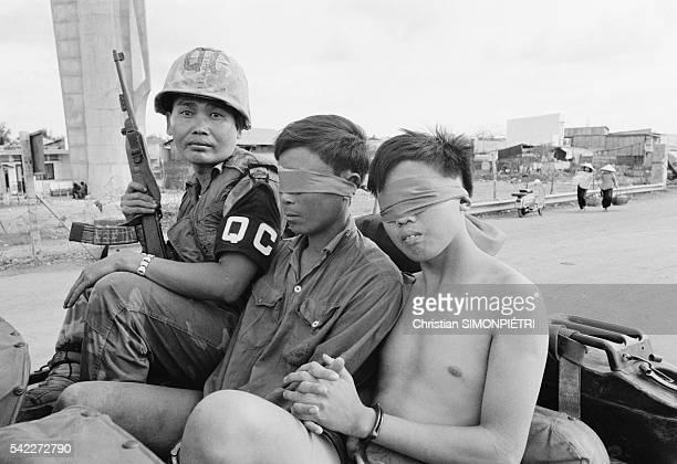Vietcong Captured During Second Offensive on Saigon