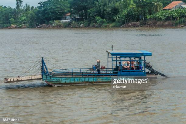 Vietnam. An Giang Province. Riverside. with ferry.