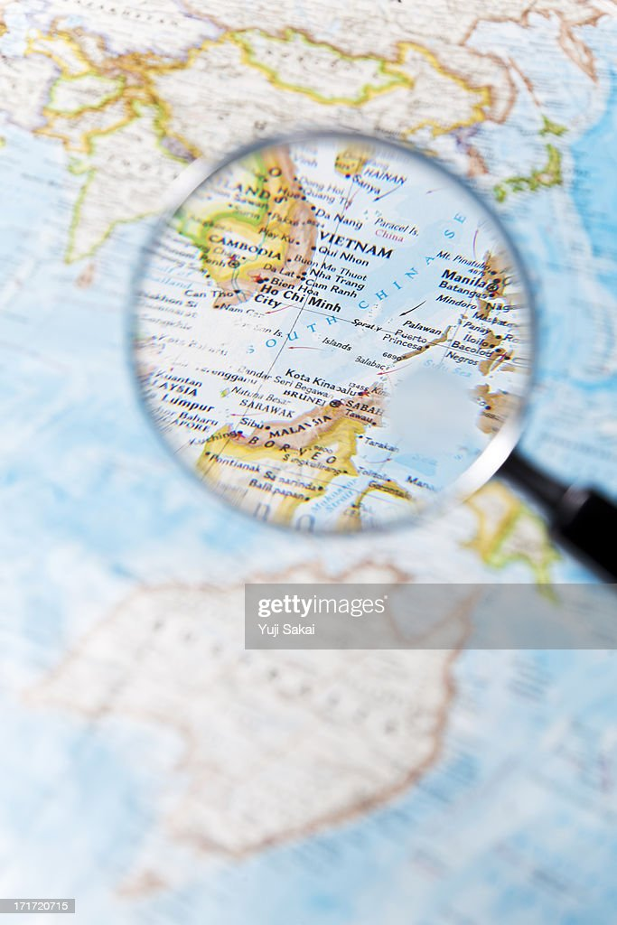 Vietnam and  Magnifying glass : Stock Photo