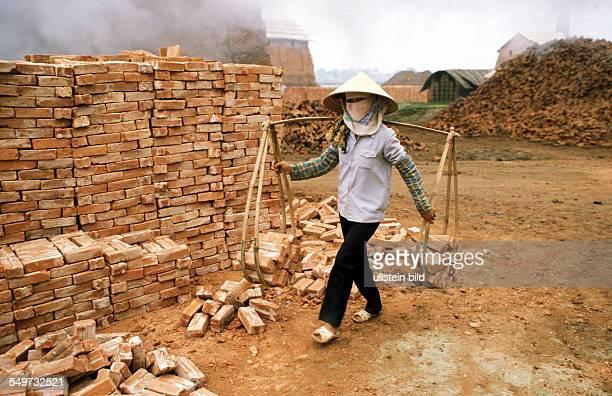VNM Vietnam Asia worker in brickworks