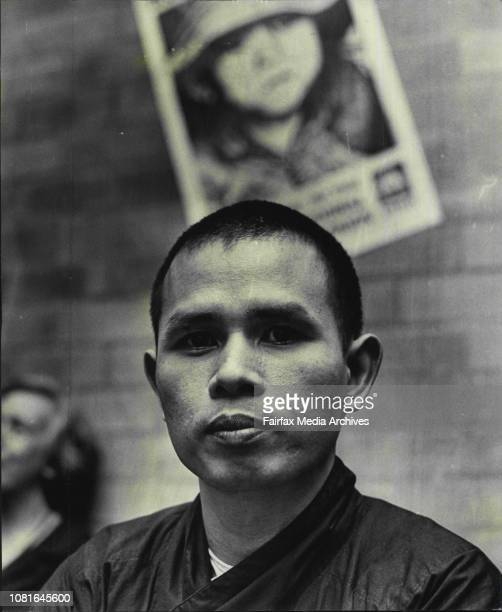 Vietnam Buddhist Monk Thich Nhat Hanh who is visiting Sydney to lecture on Vietnam at the Wesley Centre where he attended a reception given by the...