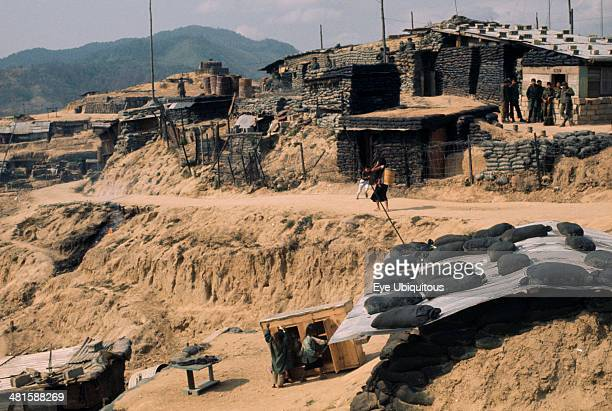 Vietnam Central Highlands Dak Pek Vietnam War Dak Pek US and Montagnard Special Forces defensive outpost behind Viet Cong lines and Ho Chi Minh trail...