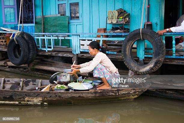 vietnam, chau doc, floating village - south vietnam stock pictures, royalty-free photos & images