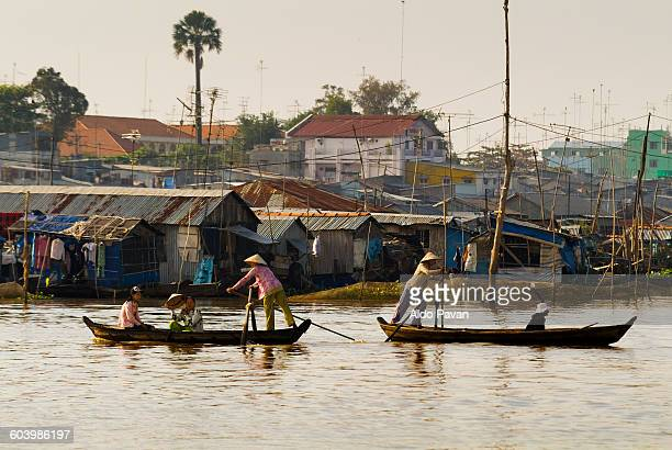 vietnam, chau doc, mekong crossing - south vietnam stock pictures, royalty-free photos & images