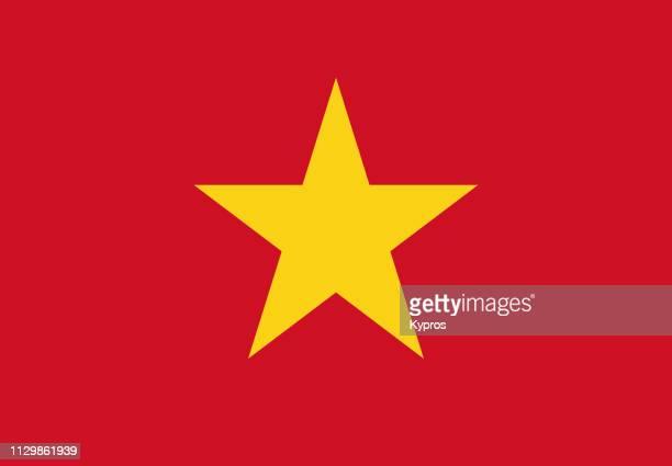 vietnam flag - vietnam photos et images de collection